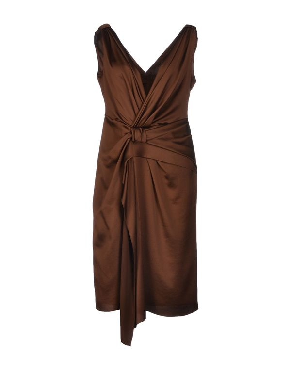棕色 ALBERTA FERRETTI 及膝连衣裙