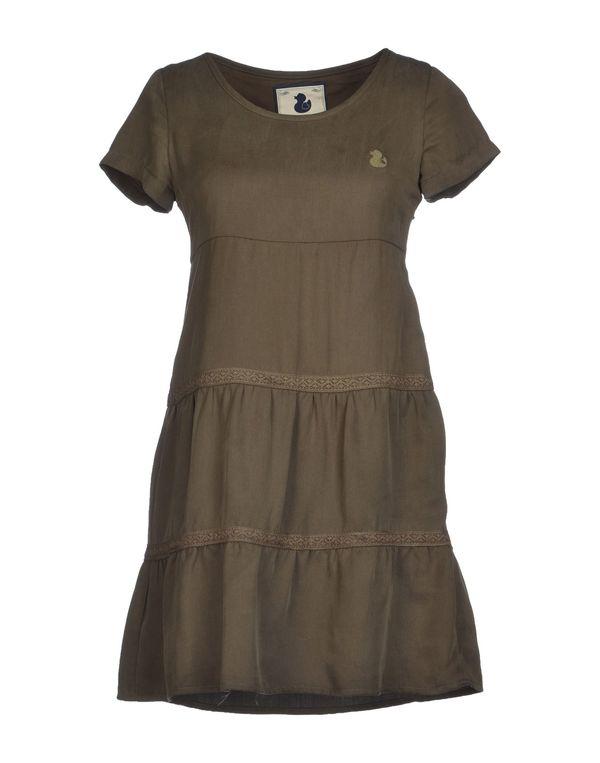 军绿色 DUCK FARM 短款连衣裙