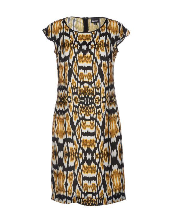 赭石色 JUST CAVALLI 短款连衣裙