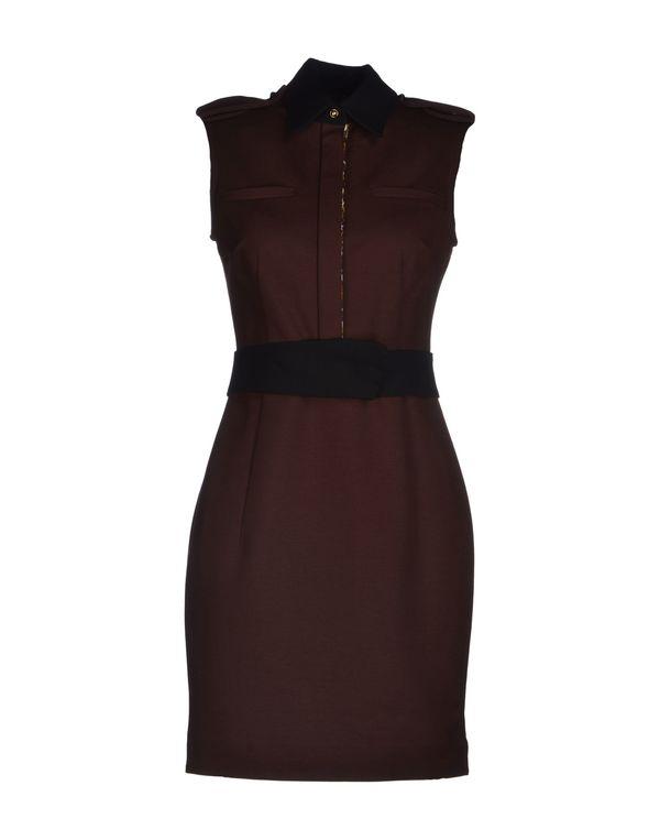 巧克力色 JUST CAVALLI 短款连衣裙
