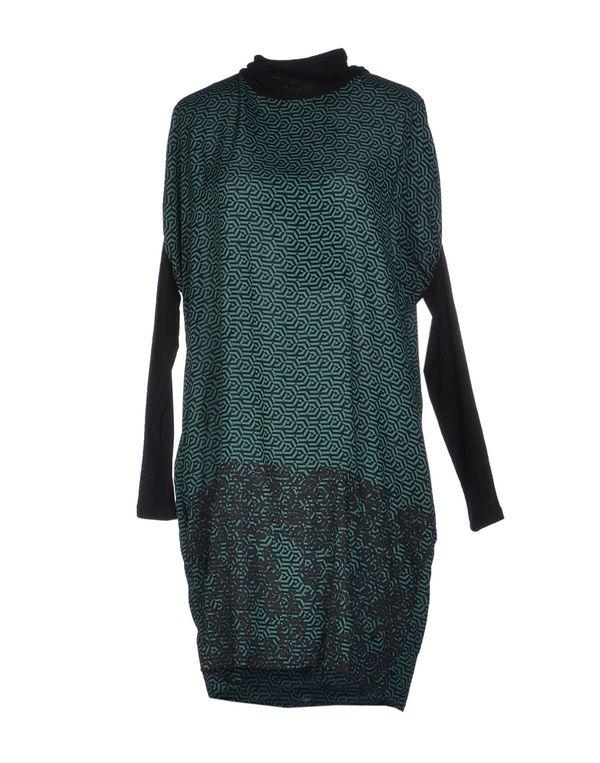 绿色 PIANURASTUDIO 短款连衣裙