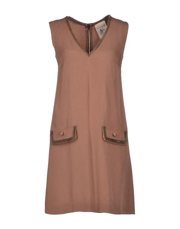 浅棕色 SEMI-COUTURE 短款连衣裙