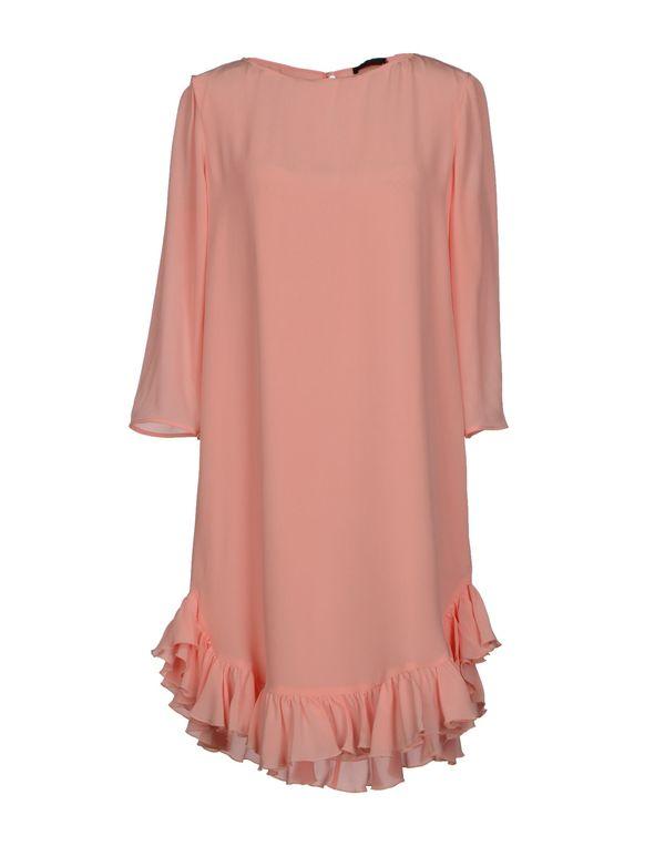 粉红色 PINKO BLACK 短款连衣裙