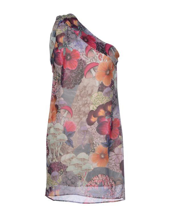 丁香紫 GOLD CASE 短款连衣裙