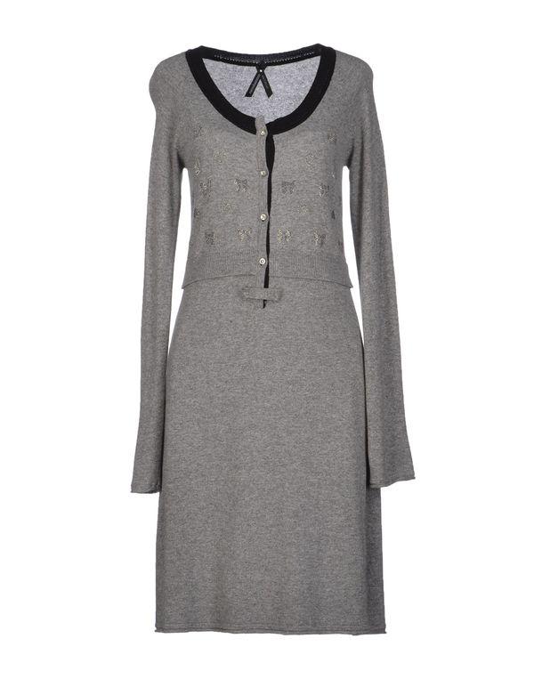 灰色 ROCCOBAROCCO 及膝连衣裙