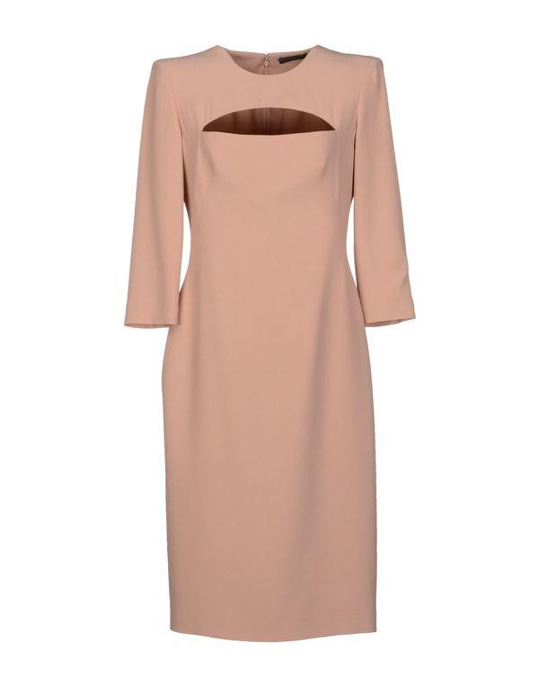 粉红色 ALEXANDER MCQUEEN 及膝连衣裙