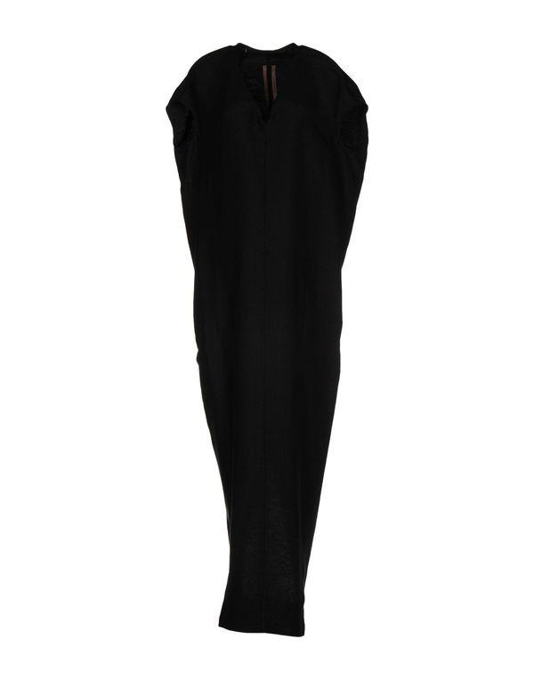 黑色 RICK OWENS 长款连衣裙