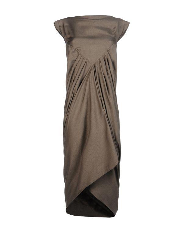 铅灰色 RICK OWENS 长款连衣裙