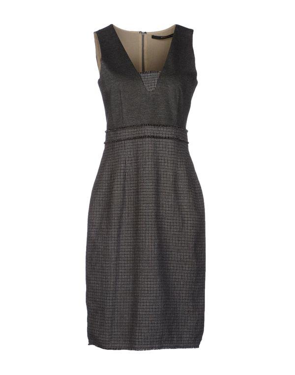 铅灰色 MAURIZIO PECORARO 及膝连衣裙