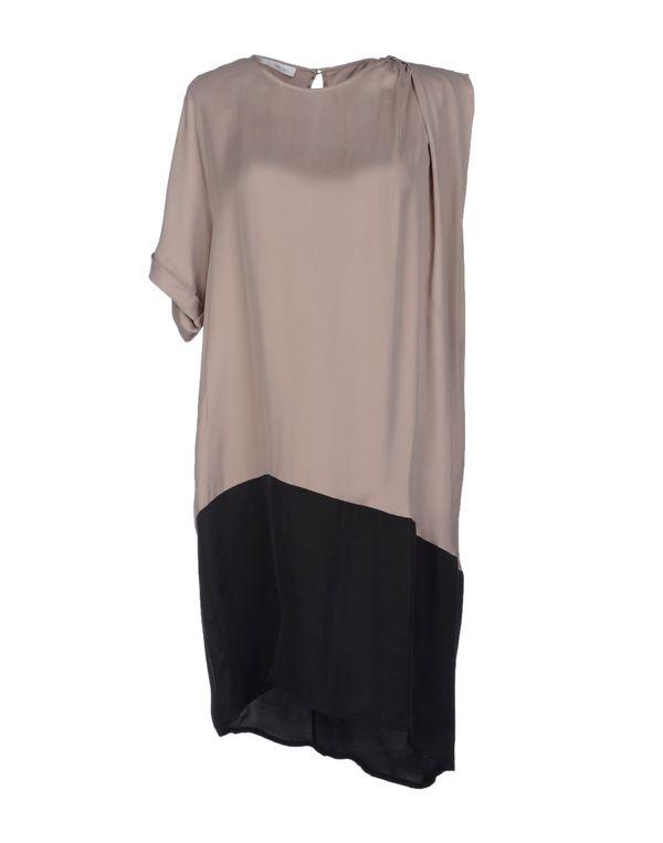 鸽灰色 GOLD CASE 短款连衣裙