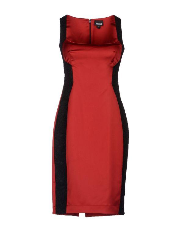 砖红 JUST CAVALLI 及膝连衣裙