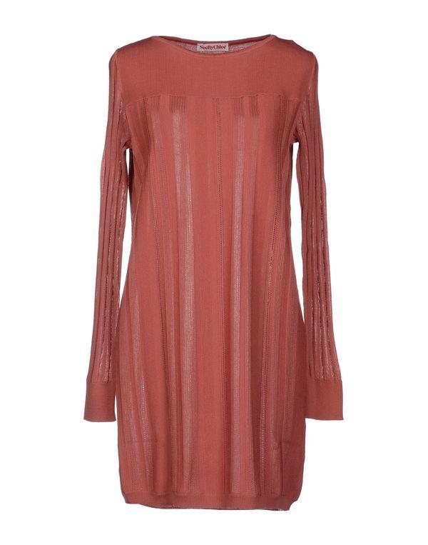 水粉红 SEE BY CHLOÉ 短款连衣裙