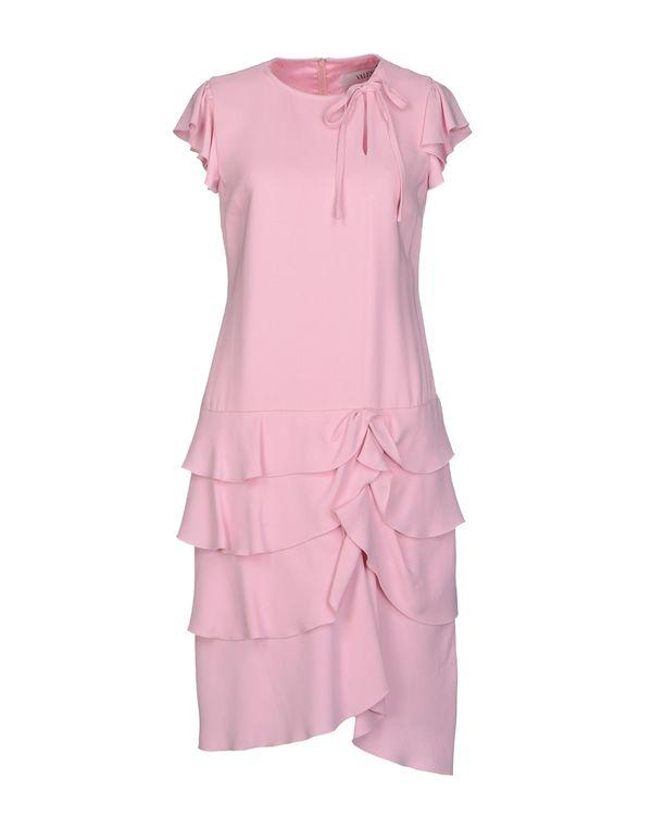浅粉色 VALENTINO ROMA 及膝连衣裙