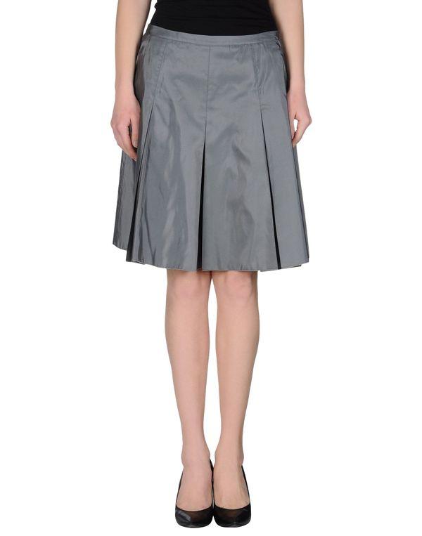 灰色 JIL SANDER NAVY 及膝半裙