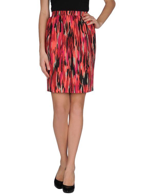 珊瑚红 JONATHAN SAUNDERS 及膝半裙
