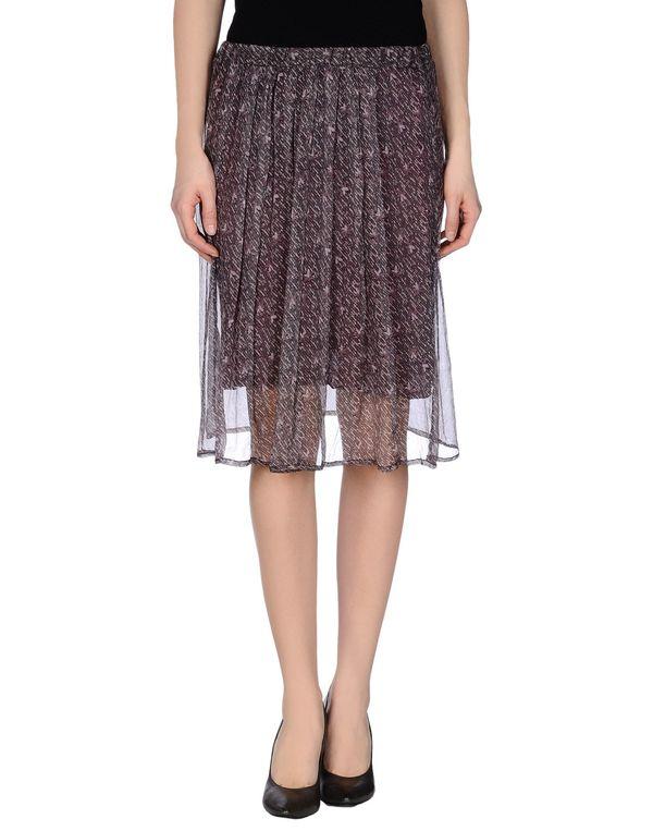 波尔多红 ALMERIA 及膝半裙