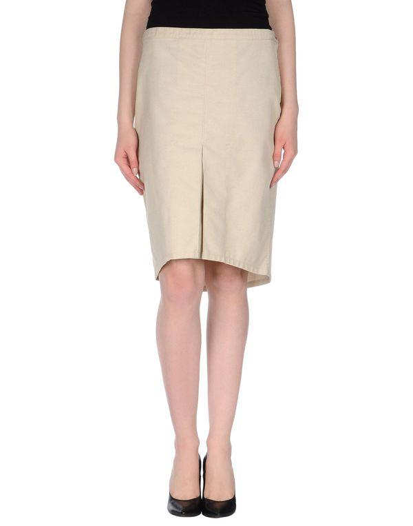 米色 ARMANI JEANS 及膝半裙