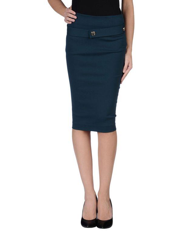 孔雀绿 PINKO BLACK 及膝半裙
