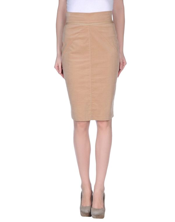 浅棕色 PF PAOLA FRANI 及膝半裙