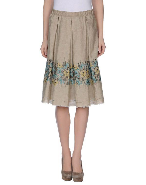 米色 ...À_LA_FOIS... 及膝半裙
