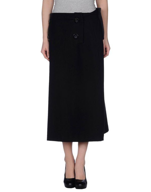 黑色 YOHJI YAMAMOTO 半长裙