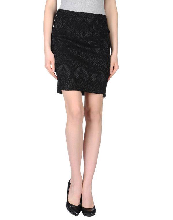 黑色 BY ZOÉ 及膝半裙