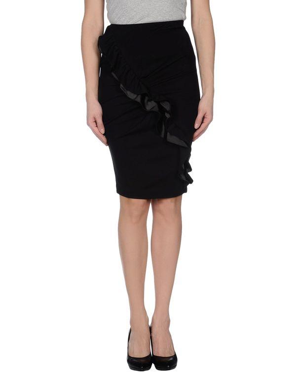 黑色 EMPORIO ARMANI 及膝半裙