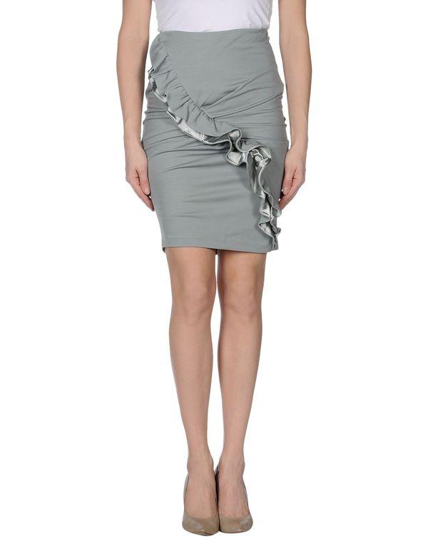 淡灰色 EMPORIO ARMANI 及膝半裙