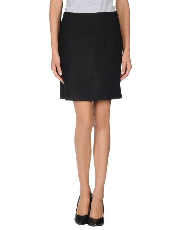 黑色 TARA JARMON 及膝半裙