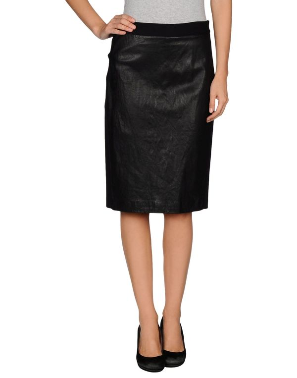 黑色 DKNY 及膝半裙