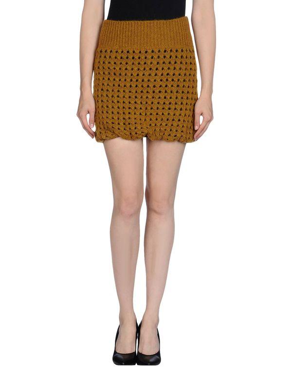 赭石色 KRISTINA TI 超短裙