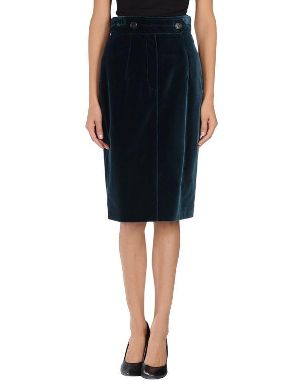 孔雀绿 BURBERRY PRORSUM 及膝半裙