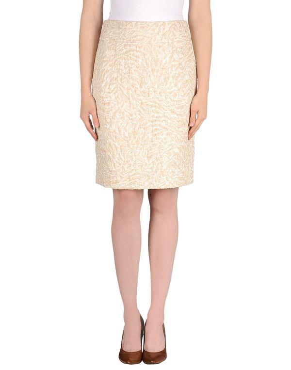 象牙白 TONELLO 及膝半裙