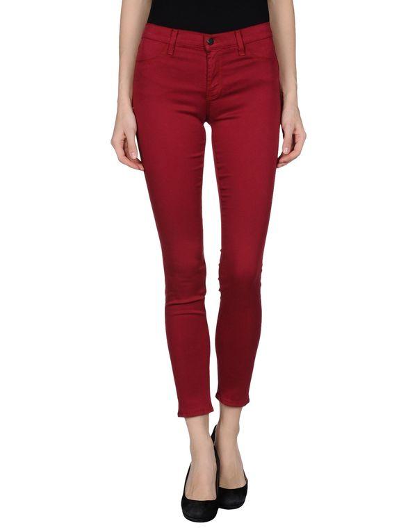 石榴红 J BRAND 裤装
