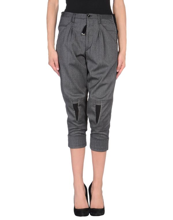 青灰色 HIGH 七分裤