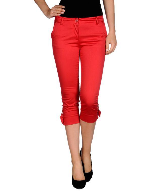 红色 LOVE MOSCHINO 七分裤