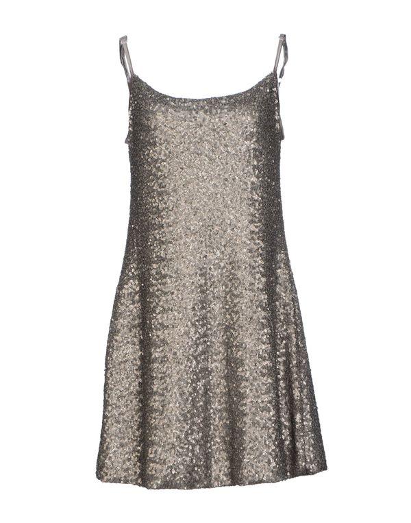 银色 KAOS 短款连衣裙