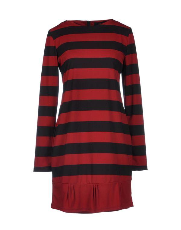 红色 POEMS 短款连衣裙