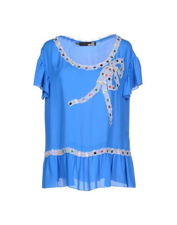 中蓝 LOVE MOSCHINO 女士衬衫