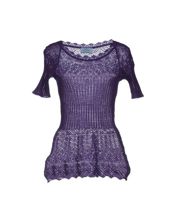 紫色 PRADA 套衫