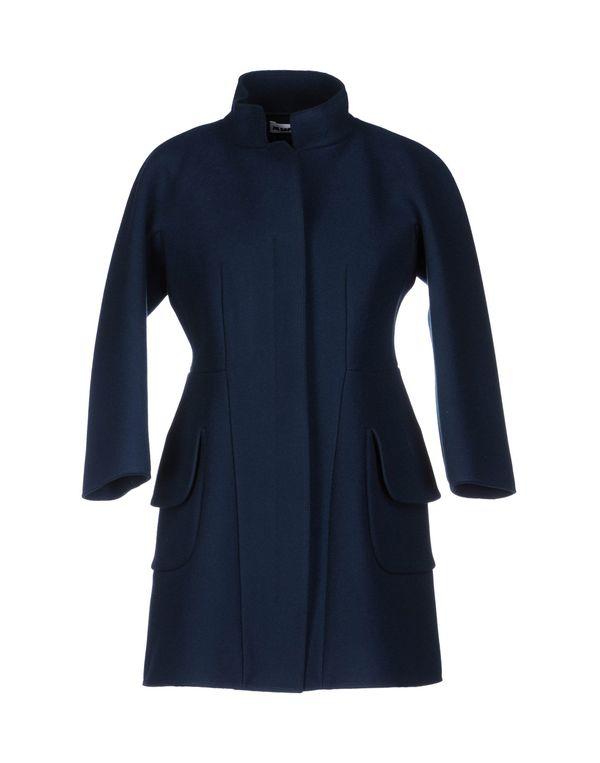 蓝色 JIL SANDER 大衣