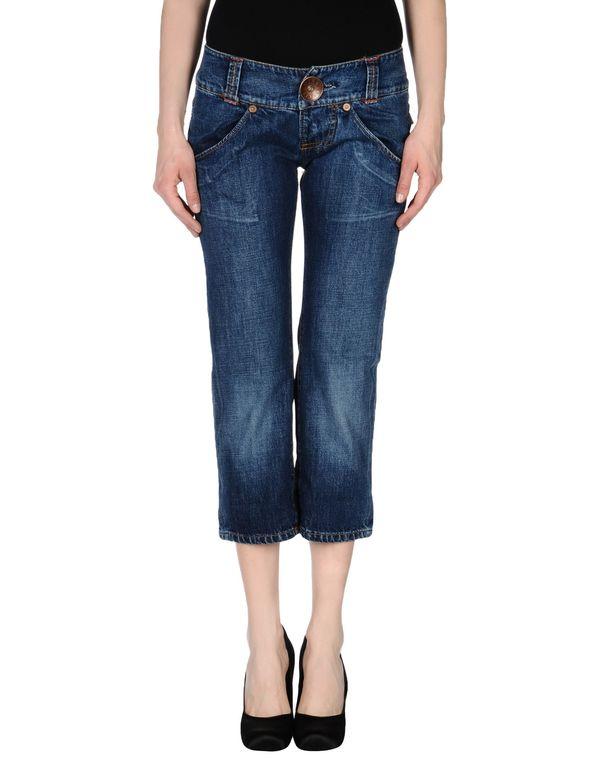 蓝色 MISS SIXTY 牛仔七分裤