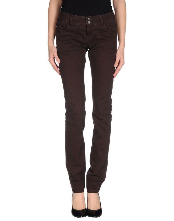 深棕色 ONLY 牛仔裤