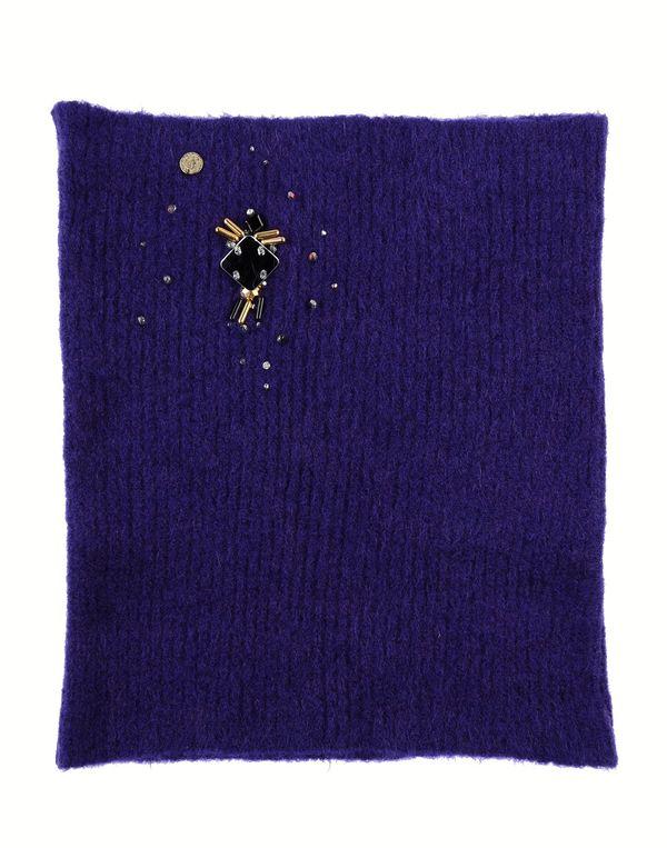 紫色 CLASS ROBERTO CAVALLI 领部装饰