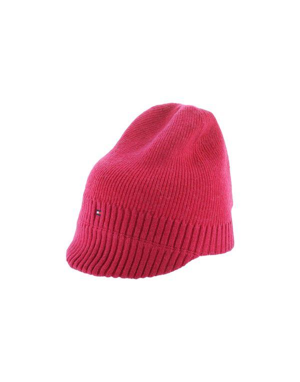 石榴红 TOMMY HILFIGER 帽子