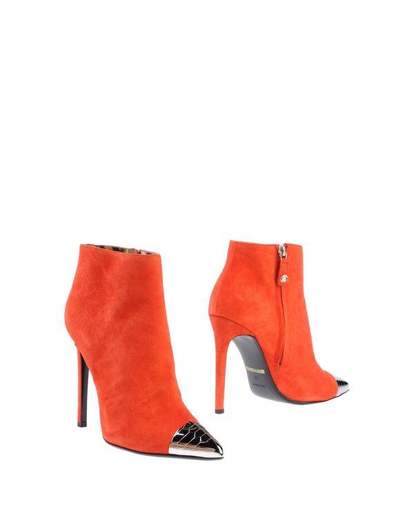 珊瑚红 ROBERTO CAVALLI 短靴