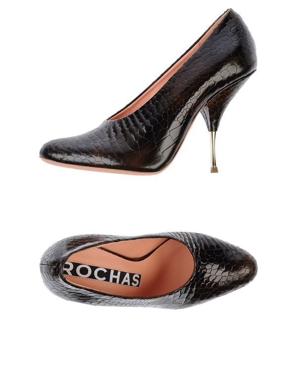 深棕色 ROCHAS 高跟鞋