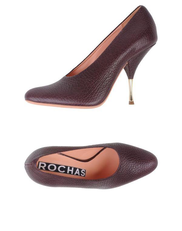 深紫 ROCHAS 高跟鞋