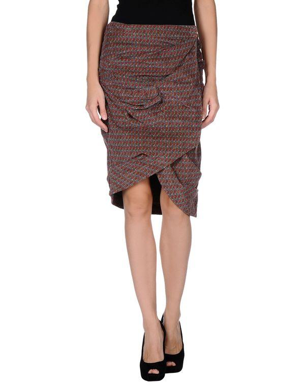 砖红 MANILA GRACE 及膝半裙