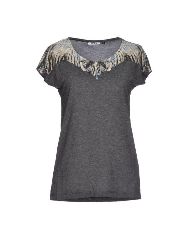 灰色 ONLY T-shirt